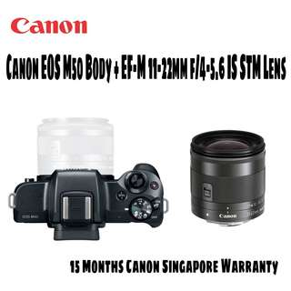 Canon EOS M50 Body + EF-M 11-22mm IS STM Lens