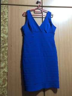 XL Blue Bandage Dress
