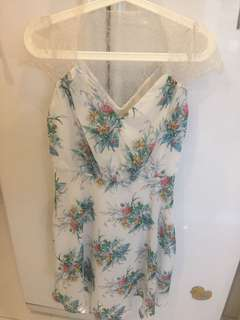 ASOS lace floral bridesmaid dress