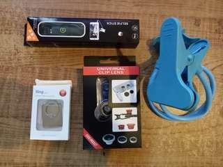 Gadget loot - universal lens, selfie stock etc