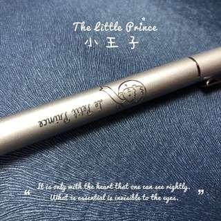 Little prince gel pen / wooden pen - Blk ink