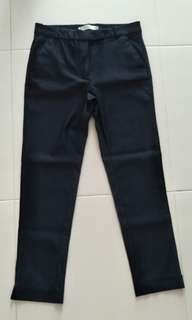 MANGO Slit Hem Pants Size 38 (Black)