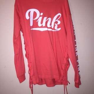Pink long dress shirt