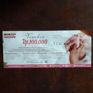 Voucher 100,000 Mom n Jo 23 Paskal