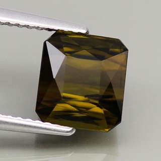 3.70ct. Cushion Natural Yellowish Green Tourmaline