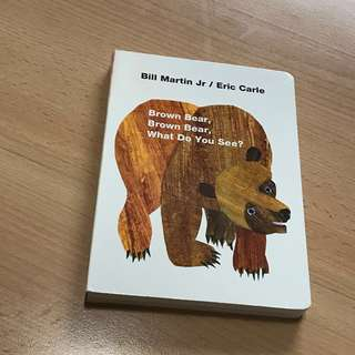 NEW Eric Carle Brown Bear Brown Bear What Do You See? (Boardbook)
