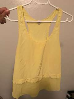 Silk aritzia Wilfred tank size small