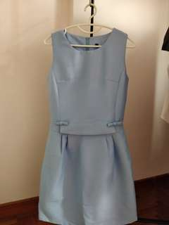 Baby Blue Work Dress