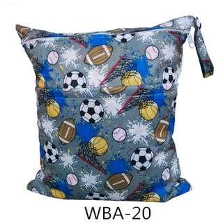 Waterproof Wet Bag / Diaper Bag With soccer printing