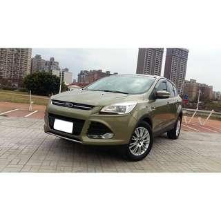 21014年  KUGA  1.6陽春  軍綠 二手車中古車