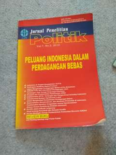 Jurnal Penelitian Politik Peluang Indoneaia dalam perdagangan