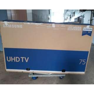 """75"""" UHD TV BOX (Used)"""