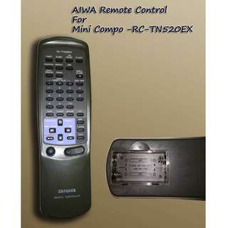 AIWA Remote Control for Mini Compo RC-TN520EX (Used)