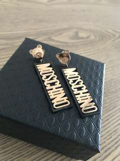 """Moschino"" earrings"