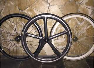 Aerospoke + rear fixie wheels