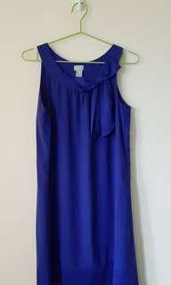 H & M Royal Blue Dress