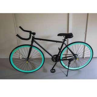 Black/Turquoise Bull Horn Fixie Bike [Brand New, Ready Stocks]