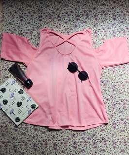 Pink Off shoulder