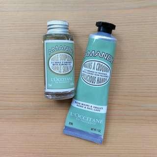 L'Occitane Amande hand cream & supple oil
