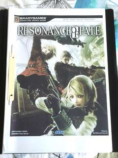 [PS3] Resonance of Fate Bradygames Guide