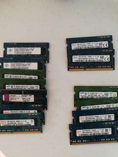 DDR 3 laptop rams for sale