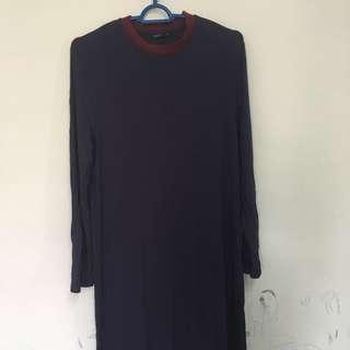 Long women dress dark blue