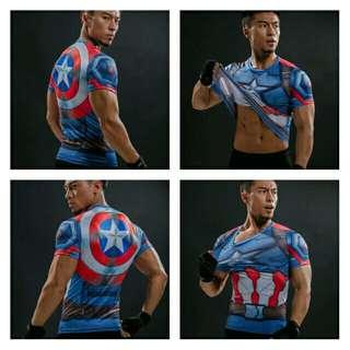 🆕🆒 T Shirt Captain America Shield Civil War Tee 3D Printed T-shirts Men Marvel Avengers 3 iron man Fitness Clothing Male Tops
