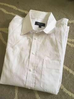 Men cotton shirt white kemeja