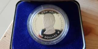 1981 Fiji Royal Wedding of Prince Charles and Lady Diana Silver Proof Coin