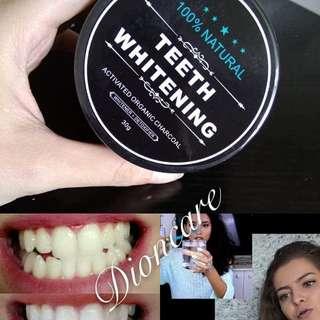 Teeth whitener charcoal