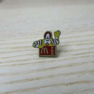 中古mcdonald徽章PIN