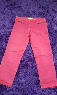 Pink, blue, red pants