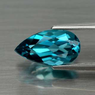 1.41ct Pear Natural London Blue Topaz