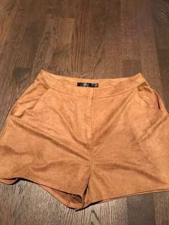 Missguided camel brown shorts US size 6