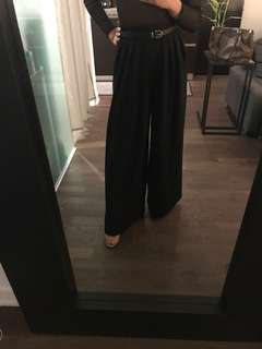 H&M Wide leg black pants -US size 2