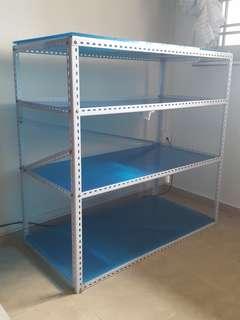 (Sold)Metal shelving rack one set shelves 1m x1m x50cm