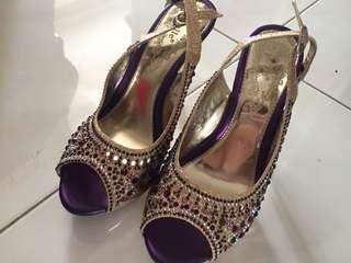Pretty Heels Gold & Purple