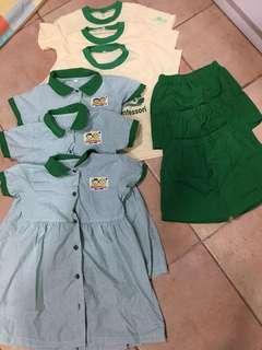 Ichiban Montessori girl's uniform 9pcs