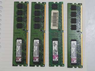Kingston DDR2 RAM (1Gb x 2條)