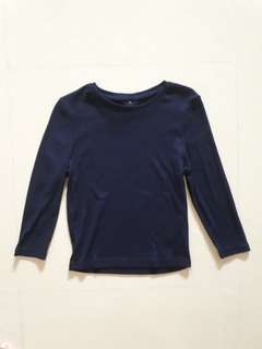 Cotton On Ribbed 3/4 sleeve top (Navy Blue & Black)