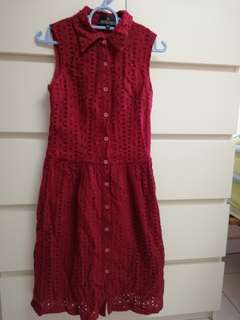Doublewoot Wine Red Dress