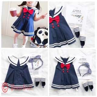 SB308 日系学院风连衣裙 Toddler Girl Dress