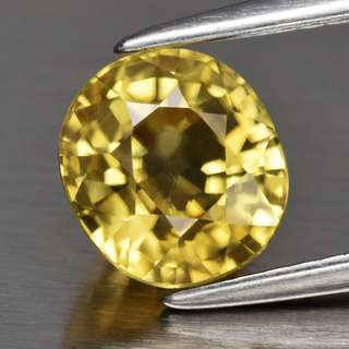 2.33ct Oval Natural Yellow Zircon