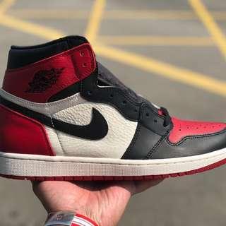 Jordan 1 Bred Toe 黑紅頭