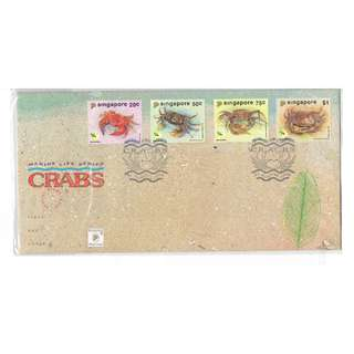 FDC  #148  MarineLife Series -- Crabs conditions of cover and stamps as in picture