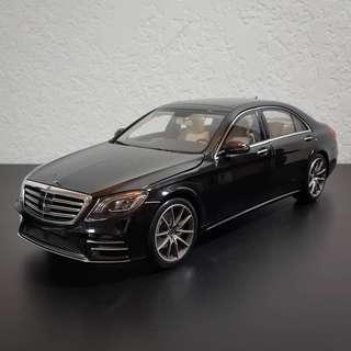 1:18 Norev Mercedes S Class W222 Facelift Black