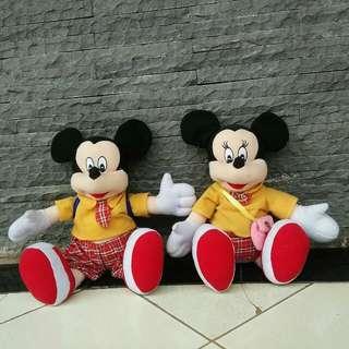 (Sepaket) Boneka mickey & minnie mouse ⛔NO NEGO NO FREE ONGKIR⛔