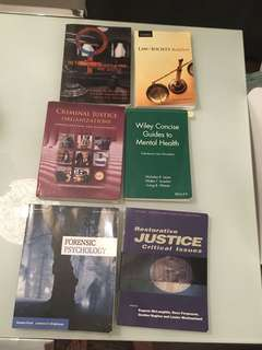 Criminal justice textbooks