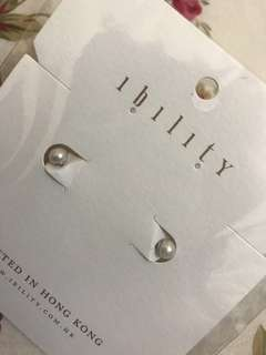Ibility 真珍珠耳環