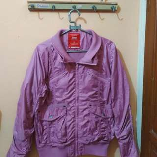 Jaket Logo Dusty Pink